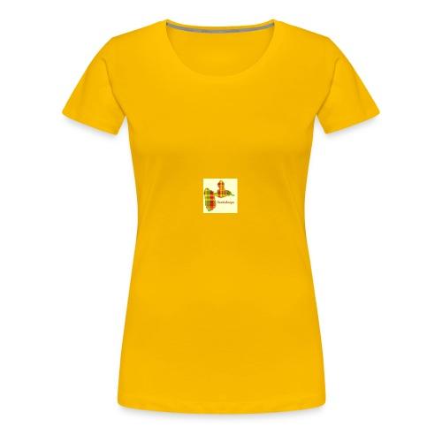 carte de la guadeloupe en applique 5 tailles - T-shirt Premium Femme