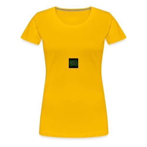 Wit baseball shirt Logo merk - Vrouwen Premium T-shirt