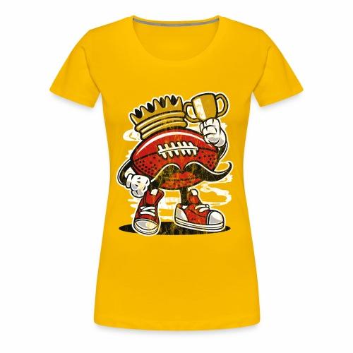 FOOTBALL KÖNIG - American Football Comic Geschenk - Frauen Premium T-Shirt