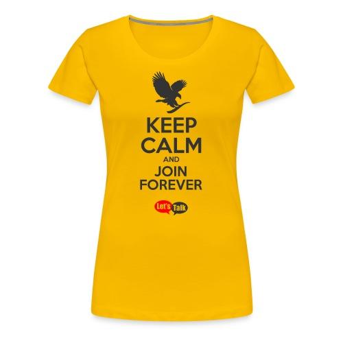 Keep Calm dark letters - Frauen Premium T-Shirt