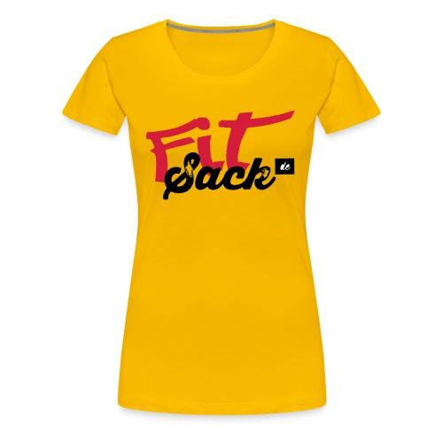 fitsack Schriftzug 2 - Frauen Premium T-Shirt