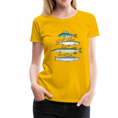 10-34B FOUR FISH - Tekstiili- ja lahjatuotteet. - Naisten premium t-paita