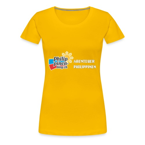 Philippinen-Blog Logo deutsch schwarz/weiss - Frauen Premium T-Shirt
