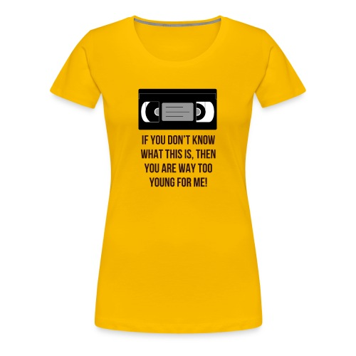 Retro VHS - Women's Premium T-Shirt