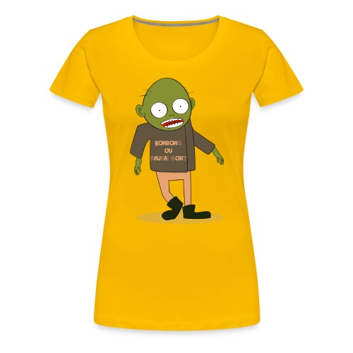 Zombie gourmand - T-shirt Premium Femme