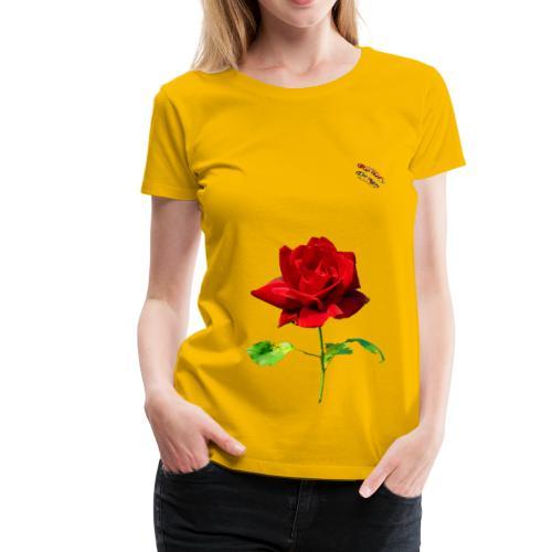 Rote Rose Shirt Randy Design - Frauen Premium T-Shirt