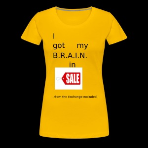 Brain in Sale - Frauen Premium T-Shirt