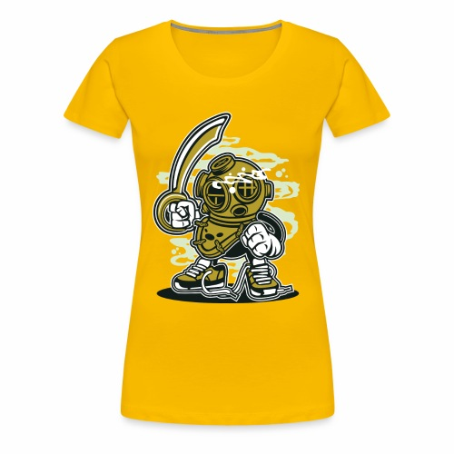 EIN TAUCHER - Lustige Comic Cartoonfigur Geschenk - Frauen Premium T-Shirt