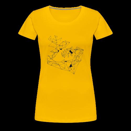 Das NEW-ART Design - Originell dreieckig! - Frauen Premium T-Shirt