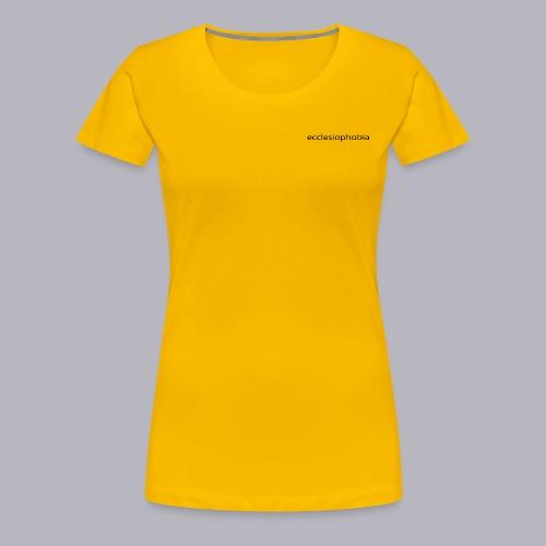 napis ecclesiophobia cienki czarny - Koszulka damska Premium