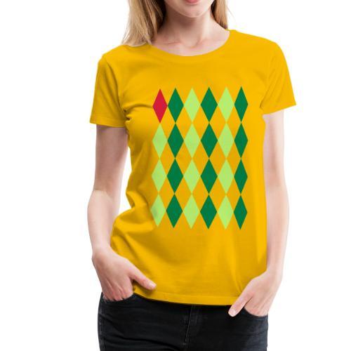 Losange Rouge - Vrouwen Premium T-shirt