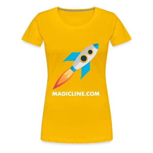Rocket Magicline com Typo weiss DIN A3 - Frauen Premium T-Shirt