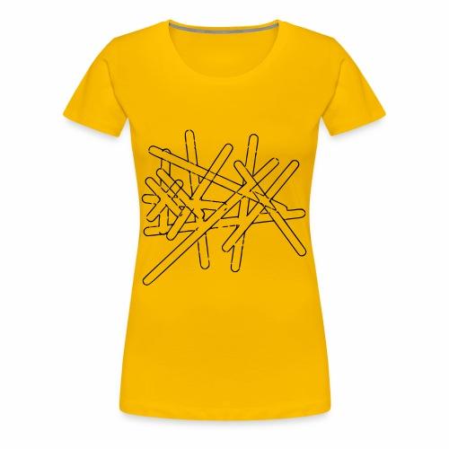 Striche - Frauen Premium T-Shirt
