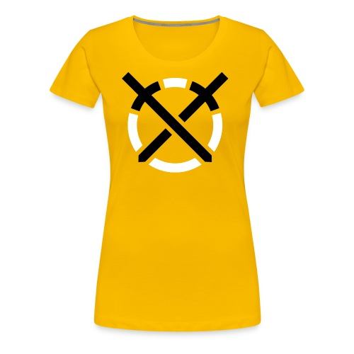 Símbolo «Arte do Combate» sobre amarelo - Camiseta premium mujer