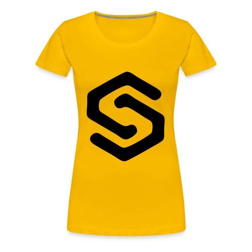 Simsonszene Sachsen S-LOGO schwarz - Frauen Premium T-Shirt