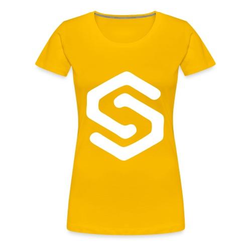 Simsonszene Sachsen S-LOGO weiß - Frauen Premium T-Shirt