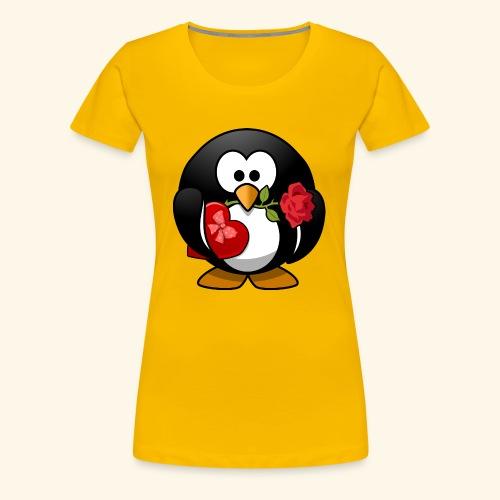 Romantischer Pinguin - Frauen Premium T-Shirt