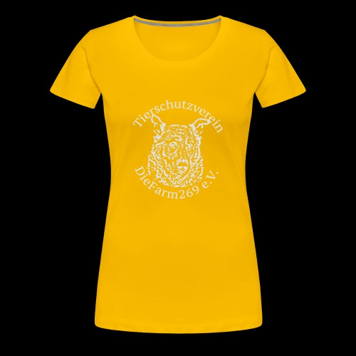 Logo DieFarm269 weiss - Frauen Premium T-Shirt