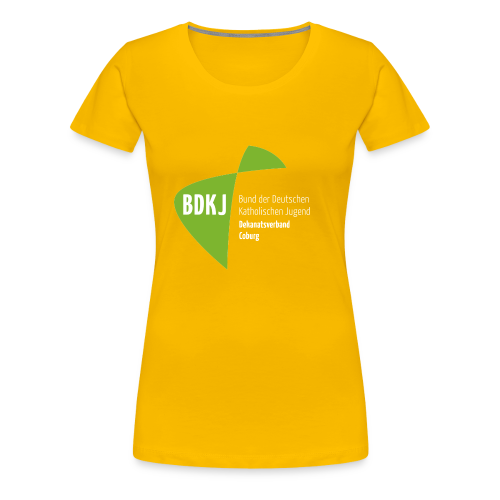 BDKJ Logo Transparenz - Frauen Premium T-Shirt