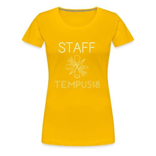 Staff valkoinen - Naisten premium t-paita