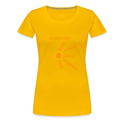 Sonnenlicht Sonnenschein - Frauen Premium T-Shirt
