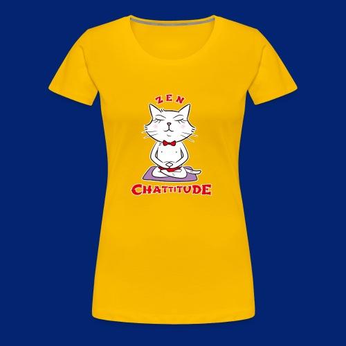 En 2018, optez pour la Zen Chattitude ! - Women's Premium T-Shirt
