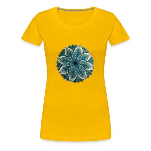 4908F6BC D05C 490F B156 E336E2874217 Mandala Green - Premium T-skjorte for kvinner