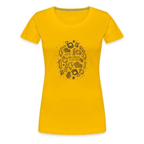 Knallfrosch Elektro - Doodle - Frauen Premium T-Shirt