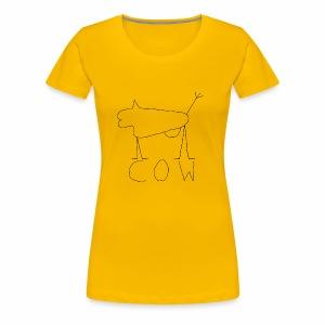 black cow - Premium T-skjorte for kvinner