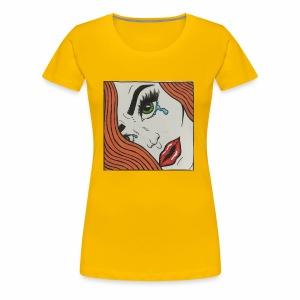 POP Art Lady-close up - Women's Premium T-Shirt
