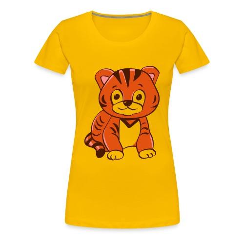 Bébé tigre orange et noir - T-shirt Premium Femme