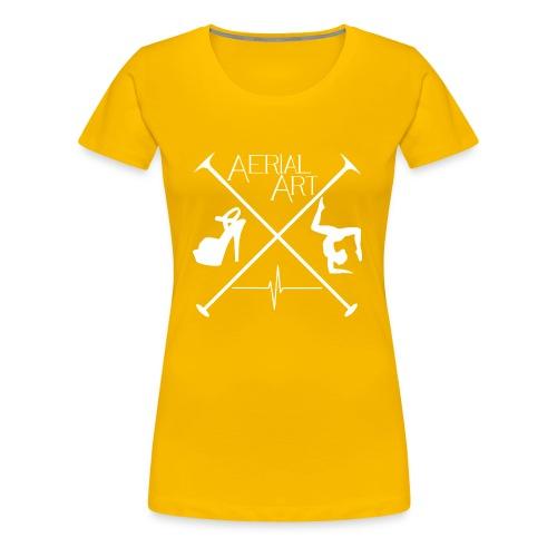Aerial Art Passion Heel weiß - Frauen Premium T-Shirt