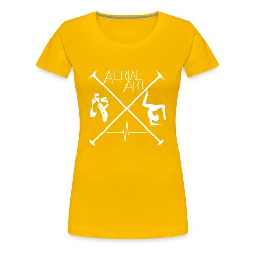 Aerial Art Passion Ballett weiß - Frauen Premium T-Shirt