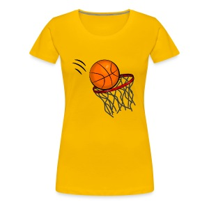 Ball in the Hoop - Women's Premium T-Shirt