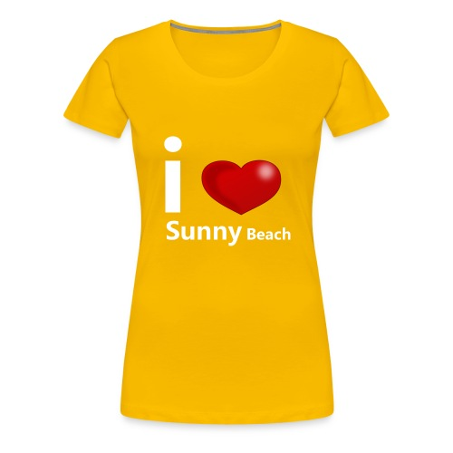 I love Sunny Beach 2 (white print) - Women's Premium T-Shirt