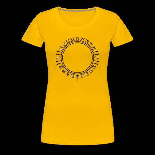Azteken Dreieck Verzierung - Frauen Premium T-Shirt