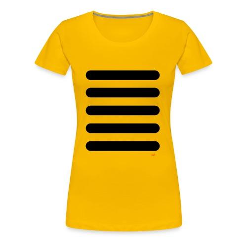 Streifen Schwarz Weiß - Frauen Premium T-Shirt