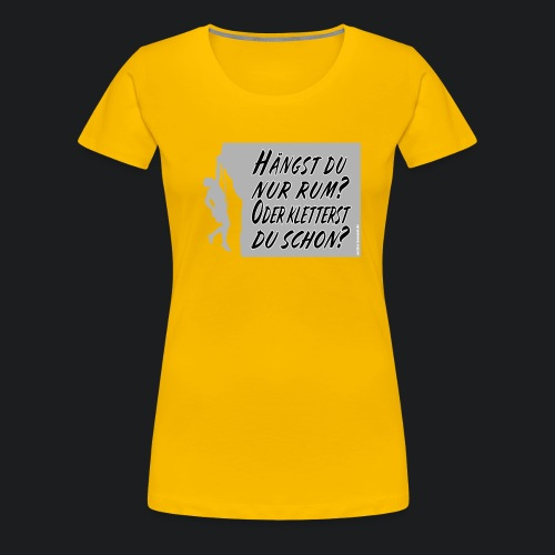Klettern - Frauen Premium T-Shirt