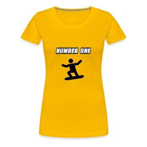 Number One Snowboarder - Women's Premium T-Shirt