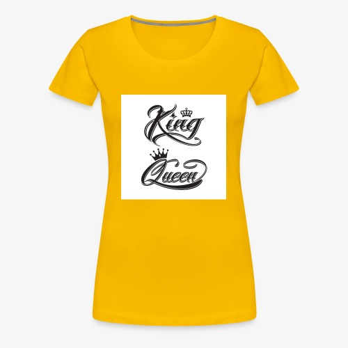 king and queen - Frauen Premium T-Shirt