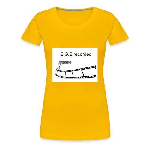 E-G-E_recorded_Prod - Frauen Premium T-Shirt