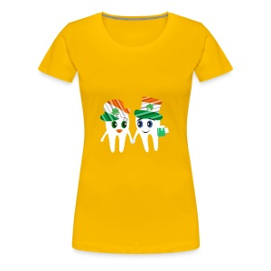 Funny Dentist St Patrick's Tooth Couple Design - Women's Premium T-Shirt