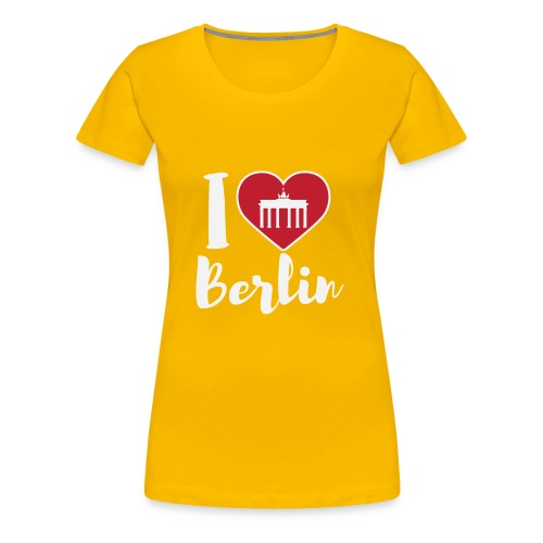 LIMITIERTE EDITION: I Love Berlin,Geschenkidee, - Frauen Premium T-Shirt