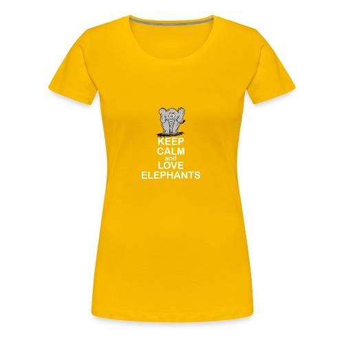 Keep Calm and Love Elephants - Frauen Premium T-Shirt