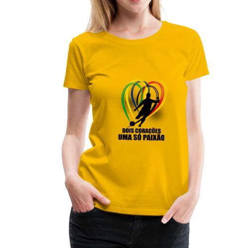 Fußball-Shirt Brasilien - Deutschland - Frauen Premium T-Shirt