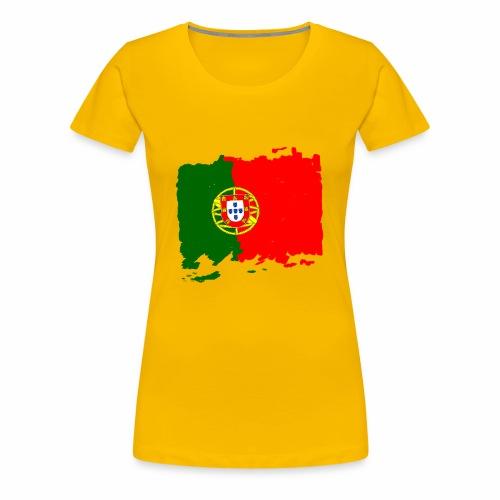 Portugal bandeira - Portugal Flagge - flag - Frauen Premium T-Shirt