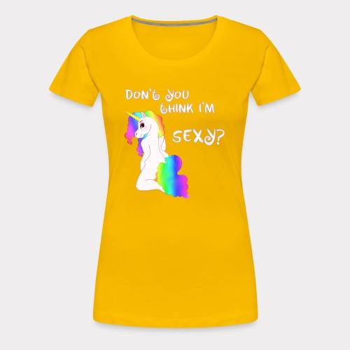 Sexy Einhorn weiss - Frauen Premium T-Shirt
