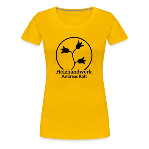 Black Holzhandwerk Logo - Women's Premium T-Shirt