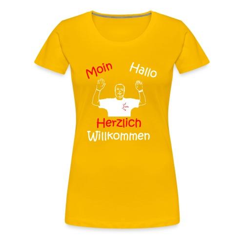Moin Hallo Herzlich Willkommen - DerDickeDirk - Frauen Premium T-Shirt