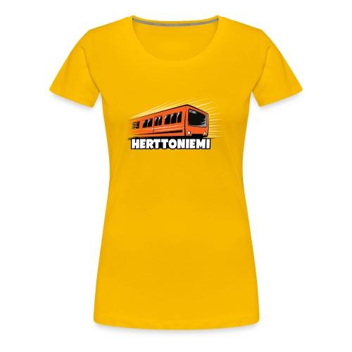 09-HERTTONIEMI METRO - Itä-Helsinki - Naisten premium t-paita